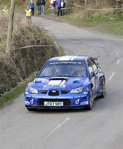 West Cork Rally, OVERALL WINNER car No.2 Impreza WRC, Driver: Tim McNulty Navigator: Paul Kiely from Summer Hill. Picture taken on Saturday 20th at Ring Stage 7
