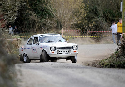 West Cork Rally 2010, Historics Winner ,No. H15 Escort Mk1, Driver: Ed Murphy, Navigator: John Hickey fron Killarney. Picture taken on Sunday 21st at Hayes's Cross Stage 14