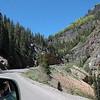 Between Silverton and Durango, Colorado.