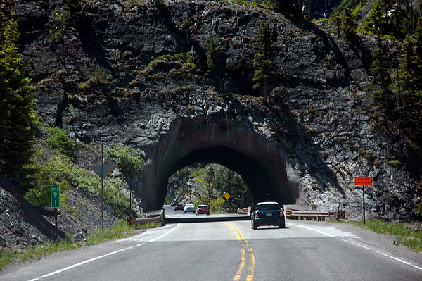 A short tunnel between Ouray and Silverton.
