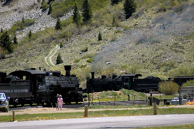 Steam locomotives for the Durango and Silverton Railroad.