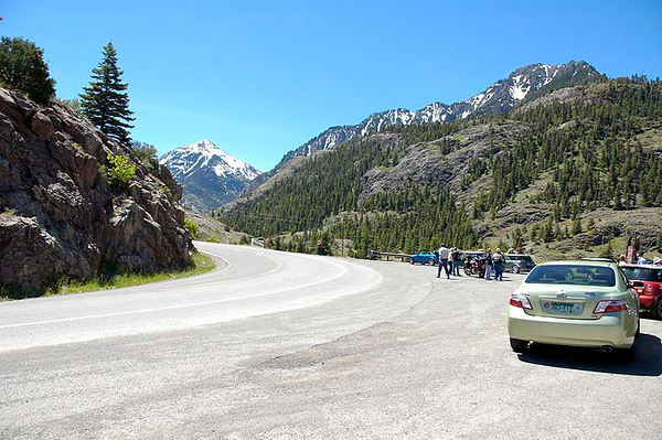 Looking toward Red Mountain Pass from the Ouray side.