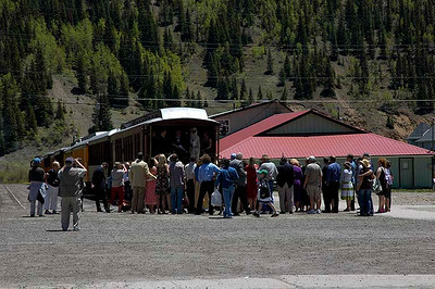 A wedding on a D&S railroad car in Silverton, Colorado.