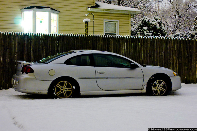 New York - Syosset, first snow of the season