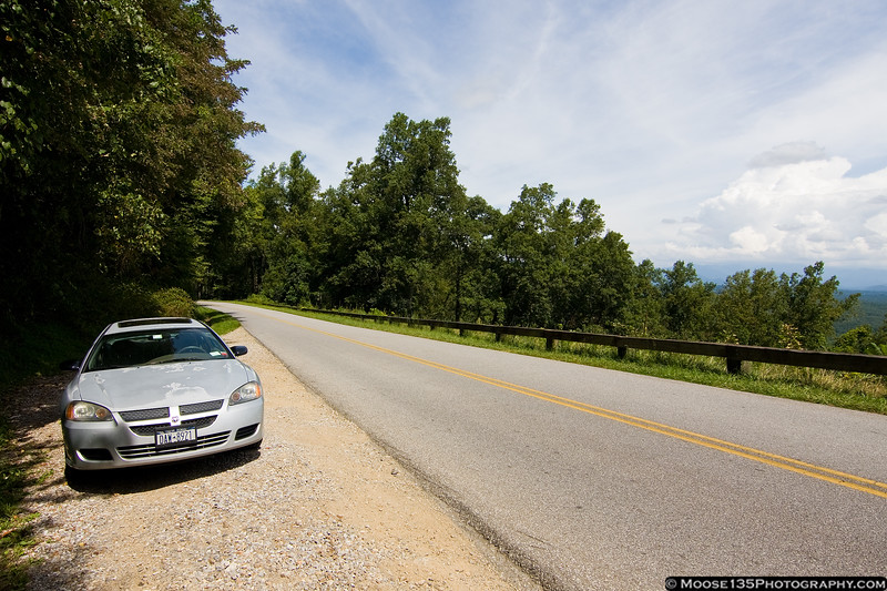 North Carolina - Taking in the scenery along the Blue Ridge Parkway