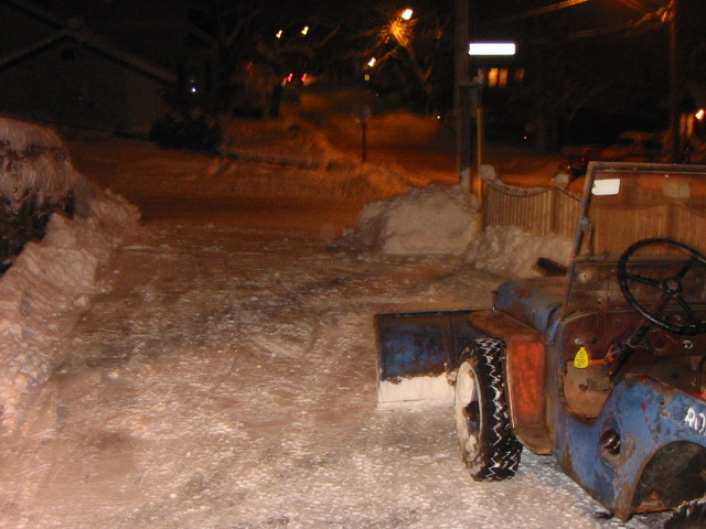 snow plow 2004, so easy to clear!