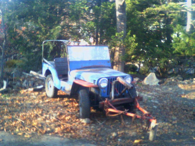 2006: The Jeep (with tow bar attached) sitting in my parent's backyard where a temporary shelter will be built over it.