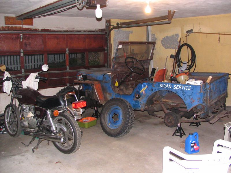 in the garage