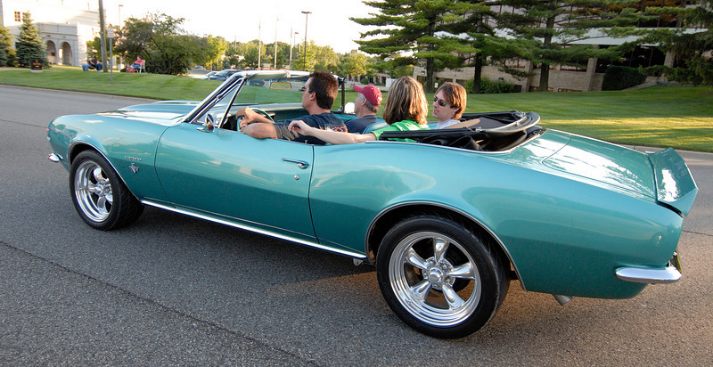 Could you imagine a finer car to hit the road in on a hot summer's night?