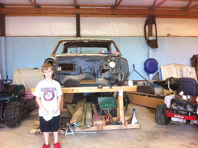 Working on old car