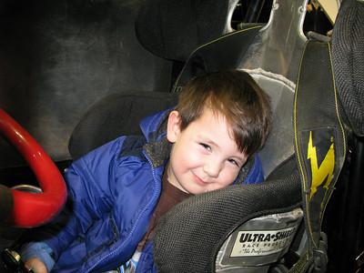 Ian really liked the race car.