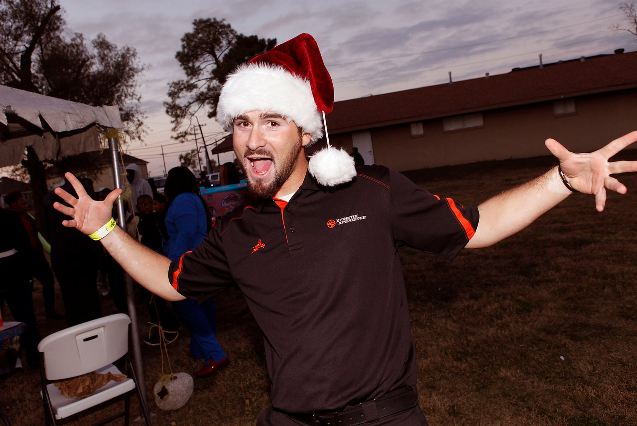 Xtreme Xperience Chief Technician Ted Tragas enjoyed playing one of Santa's helpers. (Bradley S. Pines / Xtreme Xperience)
