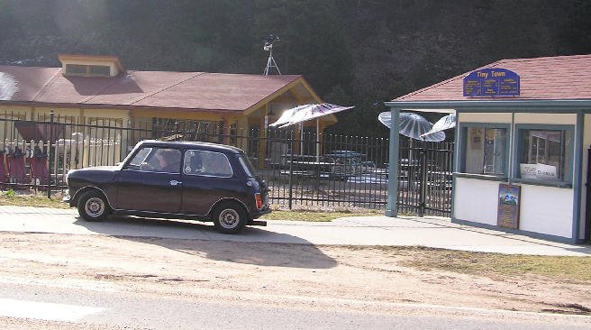 The right-hand drive classic Mini stops at Tiny Town for a few answers.