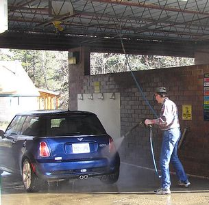 Can't resist a quick MINI wash along the way -- may be worth a few points.