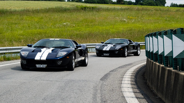 GT40's commanding the road