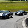 GT40's commanding the road