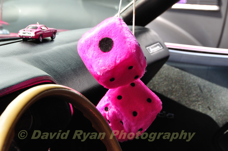 Big Pink Fuzzy Dice