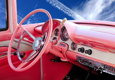 Interior of a 1956 Ford Crown Victoria