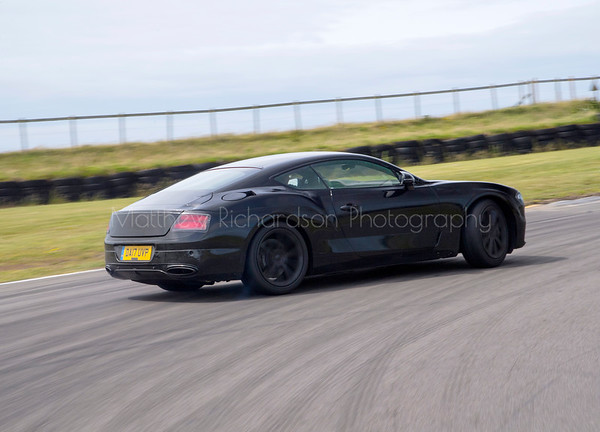 Disguised Bentley Continental on track