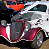 White and Red Hot Rod