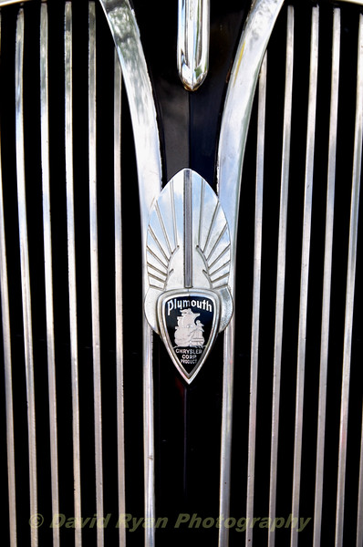 Grill of a 1937 Plymouth P4 4-Door Sedan