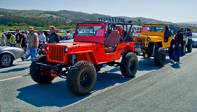 Front two jeeps