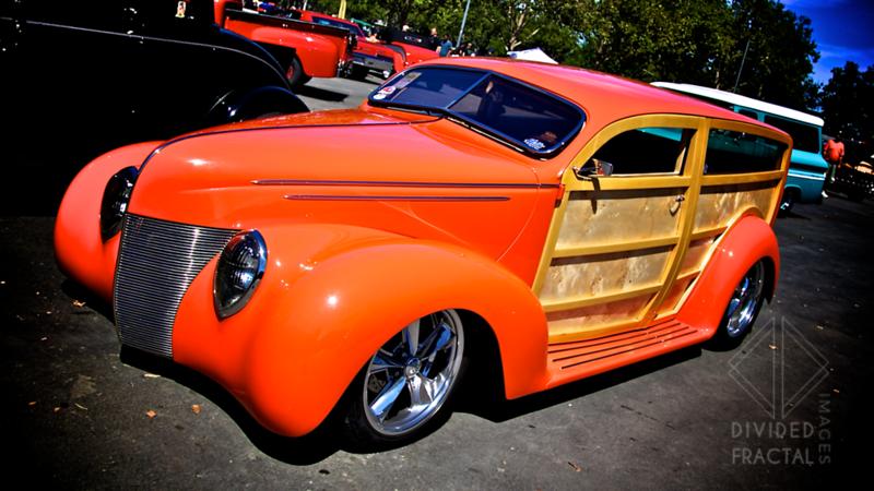 Highly modified custom woody hot rod