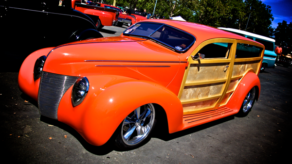 Highly modified custom woody hot rod