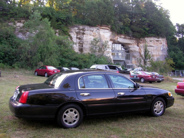 """Parked at an """"Open Cave"""" event at a private 'residence' built inside a natural cave."""
