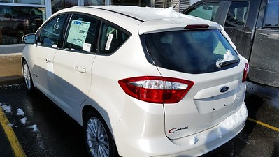 Brand new 2015 Ford C-Max Hybrid. Picked up at the dealer (Suburban Ford, Sterling Heights) after a major snowstorm.