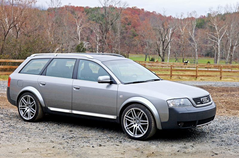 2003 audi allroad - after failed Autospeed Performance 3.0L conversion, with MTM 20mm wider wheel flares and 2007 RS4 wheels/tires.