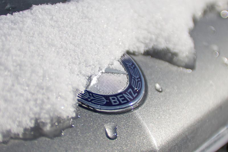 Snowy Mercedes Crest