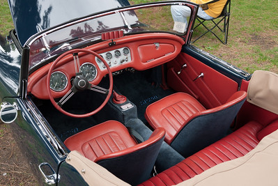 Cockpit of a V8 powered Daimler.