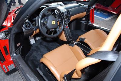 Cockpit of a Ferrari Enzo.