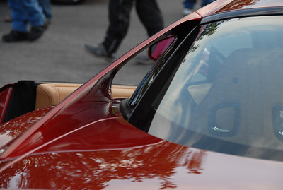 """John liked these """"sail panels"""" on this Ferrari. Not sure what model it was."""