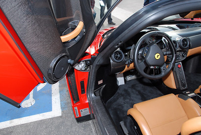 That looks like a window crank in the Enzo. There's all kinds of switches on the steering wheel.