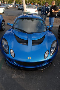Lotus Exgige. I learned how to quickly spot the difference between an Elise and an Exgige.  It's all in the shape of vent hole in the top of the hood.