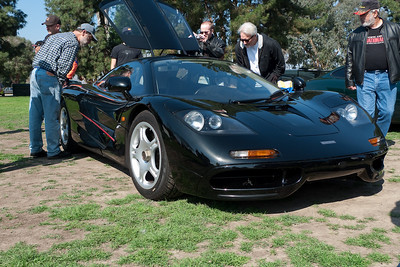 Jay Leno brought this McClaren F1. Roughly a million dollars new in the late 90's.