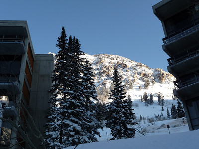 Bluebird day - clear skies, sun, and lots of fresh!