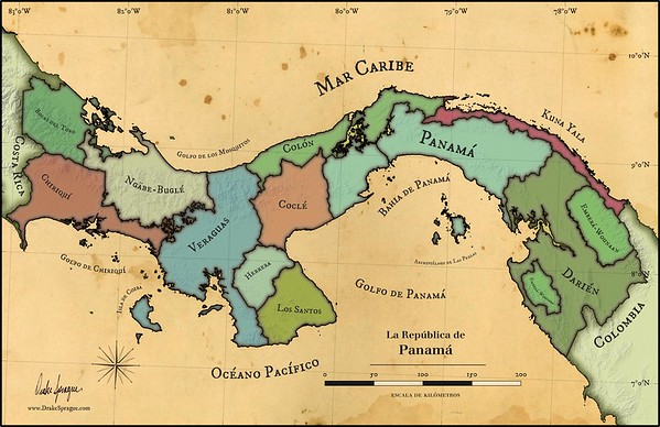 "Map | ""La República de Panamá"" by Drake Sprague"