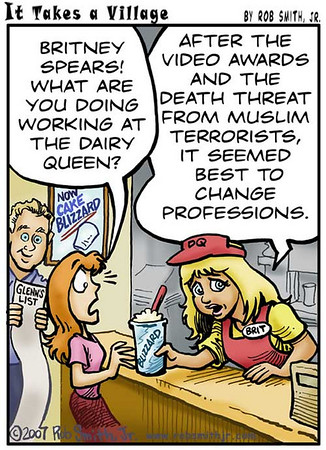 Britney Spears at the Dairy Queen