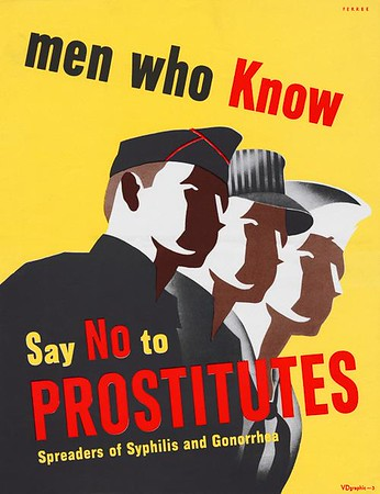 Men who know say no to prostitutes (1940s)