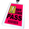 Back Stage Pass - Lanyard and Badge