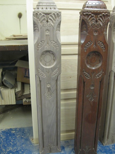 Reproduction columns for senate room Hartford Conn State Capitol