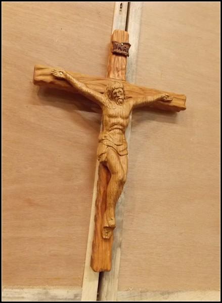 Red Oak and Cherry Crucifix