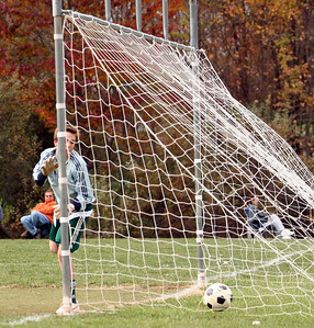 Mamadou's goal - in the net