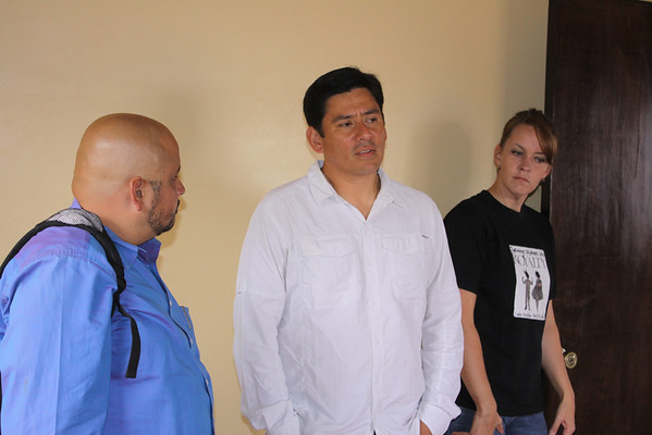 David Mollinedo, Yuri and Kerry Mondal touring Casa de Angelina