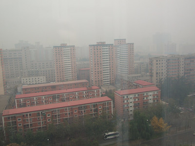 par temps de brouillard (la tour CCTV a disparu...)