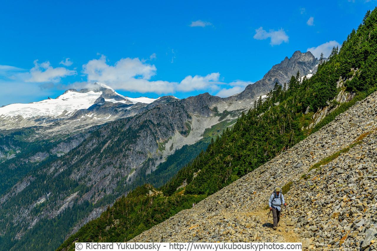 Cascade Pass with Eldorado Peak and Mt Torment in background