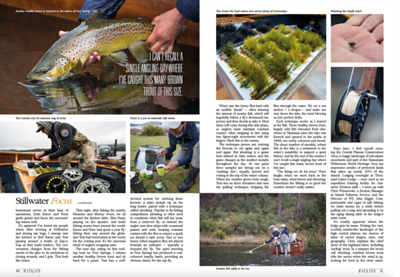 Jess McGlothlin writes and photographs and article about stillwater trout fly fishing in Tasmania, Australia for FlyLife Magazine.  November 2020.